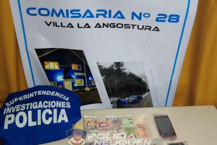 Villa La Angostura: Secuestran droga en poder de dos sujetos
