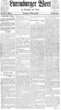 Luxemburger Wort vom 17. Oktober 1905