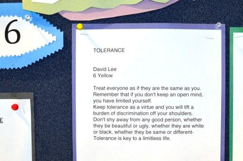 ELA Challenge (Core value - Tolerance)