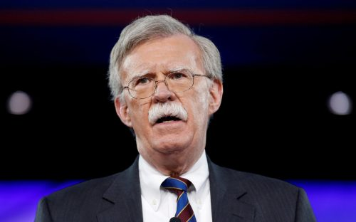 FILE PHOTO: Former U.S. Ambassador to the United Nations John Bolton speaks at the Conservative Political Action Conference (CPAC) in Oxon Hill, Maryland, U.S. February 24, 2017. REUTERS/Joshua Roberts/File Photo