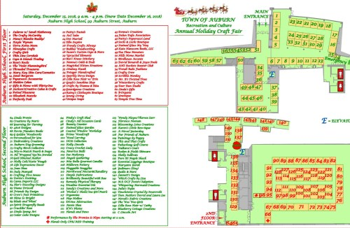 Holiday Craft Fair Floor Map