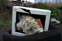 smashed computer monitor