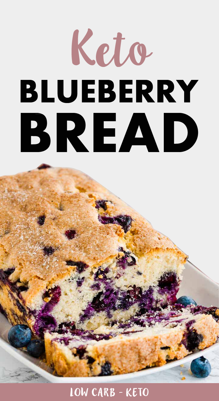 Keto Low Carb Blueberry Bread
