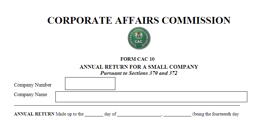 How To File Company Annual Returns With CAC in Nigeria