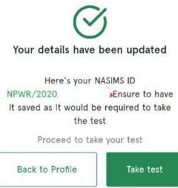 NASIMS ID For N-Power Batch C Test