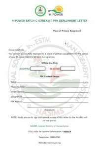 sample_of_npower_acceptance_letter