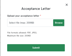 upload N-Power acceptance letter