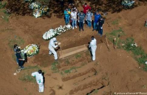 Brasil segundo país del mundo con más casos de COVID-19