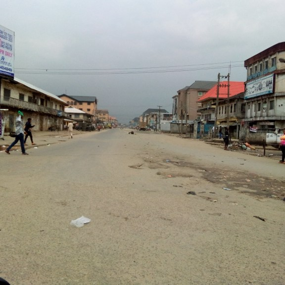 Business Grounds In Aba As Residents Observe Sit-At-Home