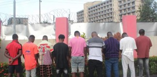 EFCC Arrests Nine Alleged Yahoo Boys in Warri