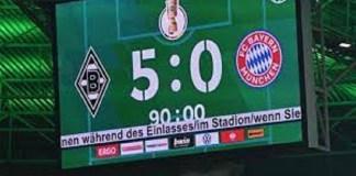 Bayern Munich suffer 43 Years Scandalous Defeat at Borussia Monchengladbach