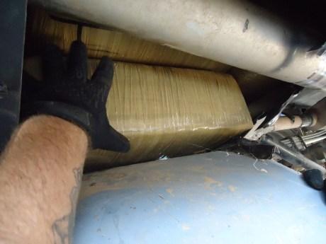 Así era transportada la droga por los dos jóvenes detenidos en la garita del Douglas.
