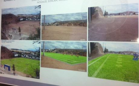 Una realidad campo de futbol americano en Nogales.