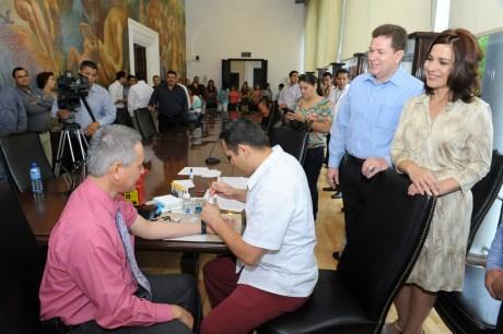 El evento se realizó en las instalaciones del Palacio de Gobierno.