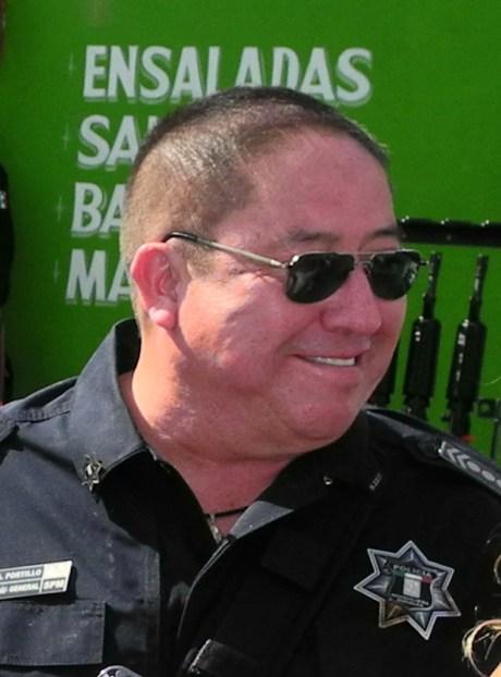 El comandante Miguel Ángel Portillo Lugo, Director de Seguridad Pública Municipal.