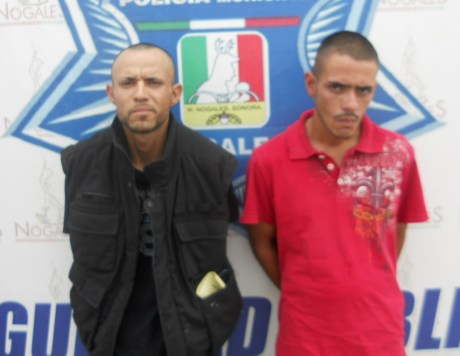 Los dos detenidos por allanamiento.