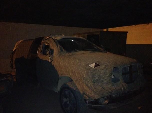 Este vehículo Dodge tenía varios paquetes con marihuana.