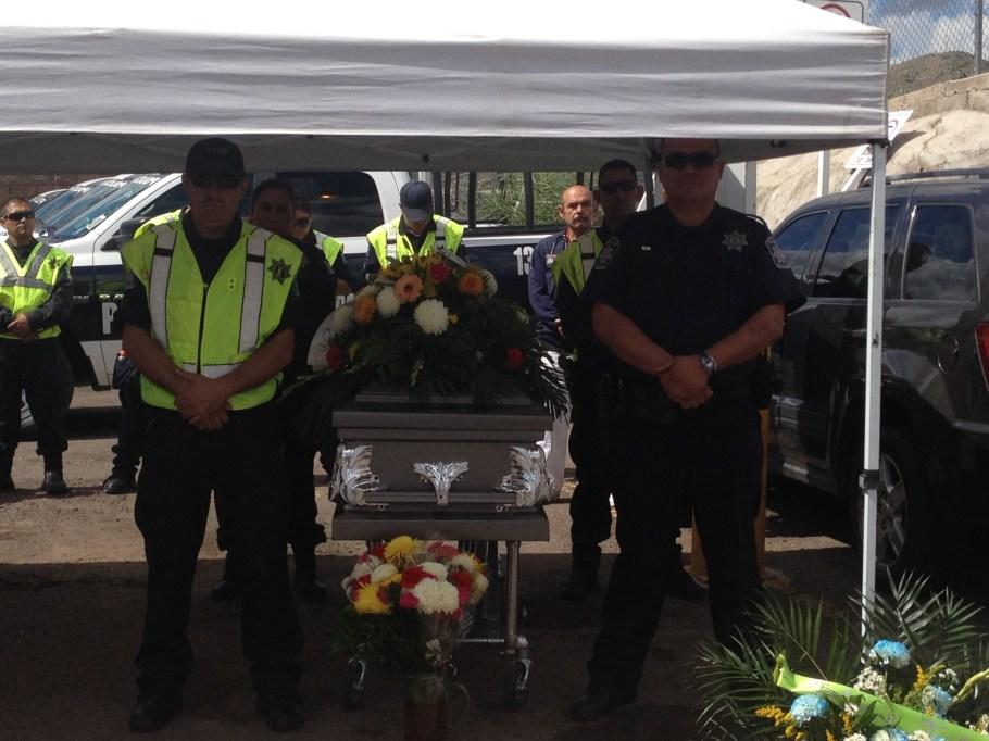 El evento fúnebre se celebró en las instalaciones del edificio de Seguridad Pública.