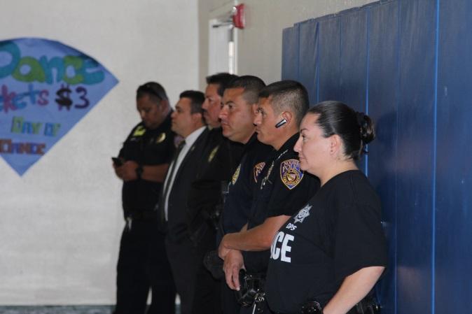 Varias corporaciones de seguridad participaron en el programa.