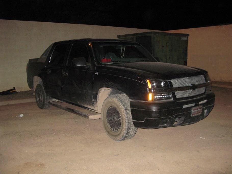 Uno de los vehículos asegurados.