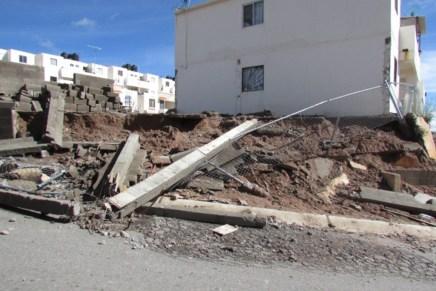 Derrumbes de cerros o bardas, generados por los mismos vecinos: UMPC
