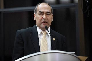 El diputado Carlos Navarro.