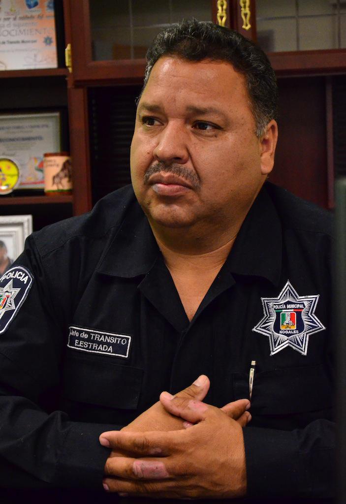 Eliseo Estrada Muñiz, jefe de Tránsito Municipal.