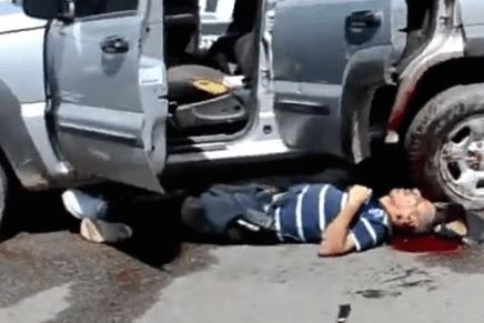 Fuertes imágenes del video sobre el enfrentamiento armado entre sicarios y policías en Caborca