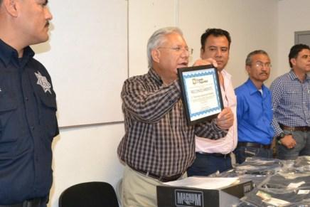 Recibe Ramón Guzmán el reconocimiento número 24 por ser una Ciudad Segura