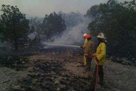 Monitorean incendio forestal en zona serrana entre El Cíbuta e Ímuris