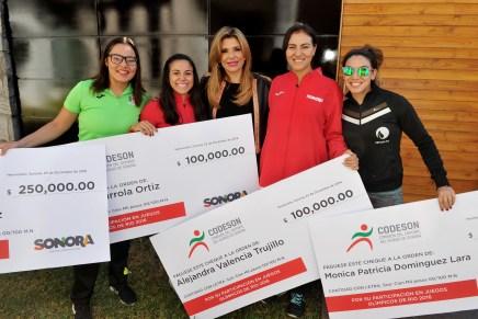 Incentiva Gobernadora Pavlovich a deportistas sonorenses
