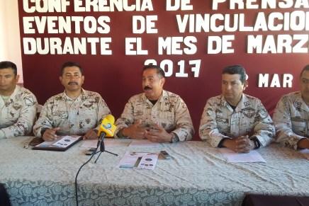 Anuncia el Ejército Mexicano conciertos, campaña de canje de armas y paseo dominical