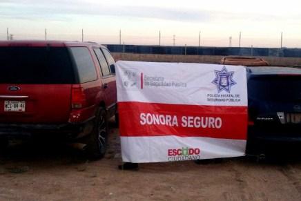 Aseguran PESP y Sedena AK-47 y AR-15 en vehículo robado en Sáric