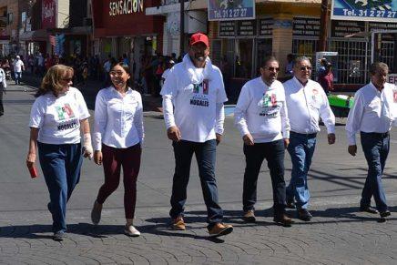 Reconoce el PRI Nogales a sus centrales y organizaciones durante desfile por el Día del Trabajo