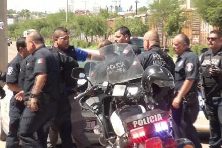 Protagonizan «zafarrancho» guardias de seguridad y policías