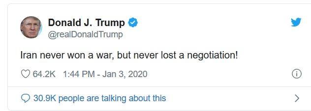 Donald J Trump : breaking news - zijn eerste reactie op wat hij afgelopen nacht heeft gedaan.