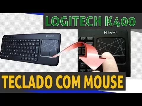 Review teclado com mouse integrado sem fio da logitc k400