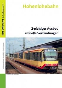 Hohenlohebahn - 2-gleisiger Ausbau  schnelle Verbindungen
