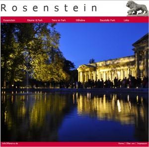 Rosenstein Webseite
