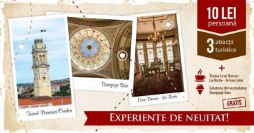 Turnul Primăriei Oradea, Sinagoga Sion si Casa Darvas pot fi vizitate cu numai 10 lei. Galerie Foto