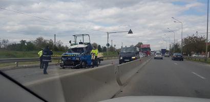 Accident grav pe Centura Oradea. Trei accidentati transportati la spital cu multiple leziuni (FOTO)