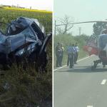 UPDATE! Accident grav pe DN79, intre Madaras si Inand. Elicopterul SMURD a transportat o femeie de 49 de ani, in stare foarte grava la spital