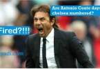 Antonio Conte (Chelsea's Coach) might be sacked from Chelsea FC- the odds are against him