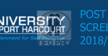 University of Portharcourt (UNIPORT) Post UTME 2020/2021 Screening Exercise/Form- cutoff mark for all departments