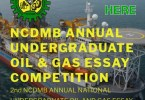 2nd NCDMB ANNUAL NATIONAL UNDERGRADUATE OIL AND GAS ESSAY Competition 2018- Apply