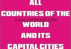 independent countries and capitals