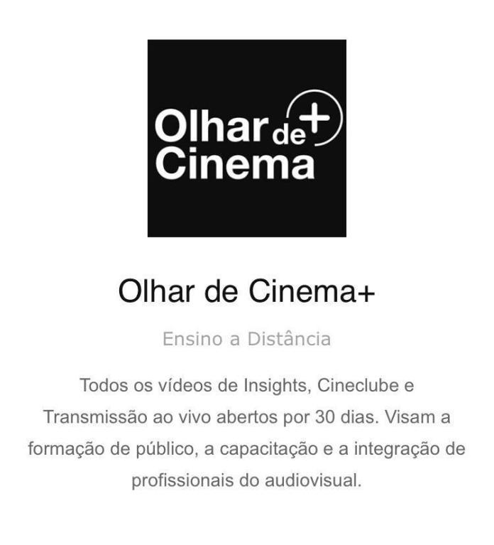 olhar de cinema