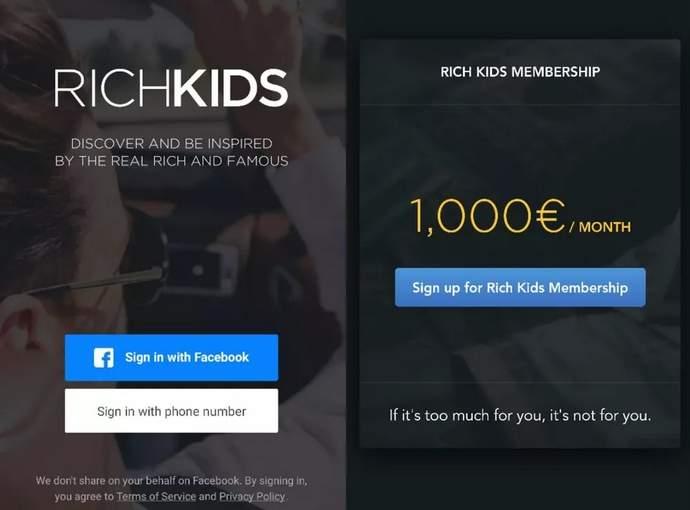 rich kids life intstagram