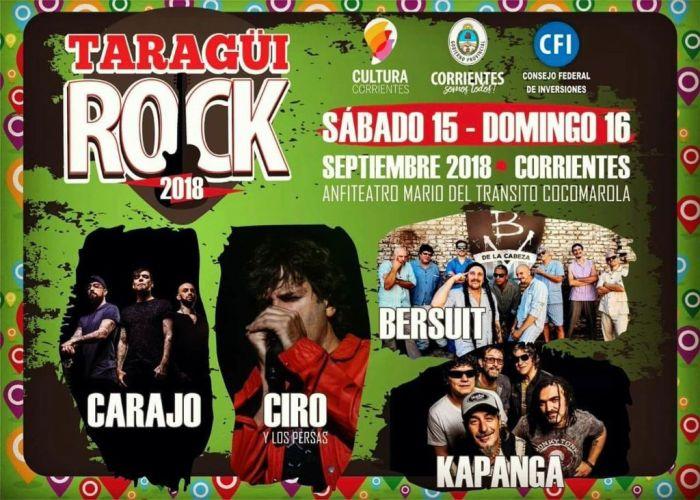 Ya están a la venta las entradas del Taragüí Rock