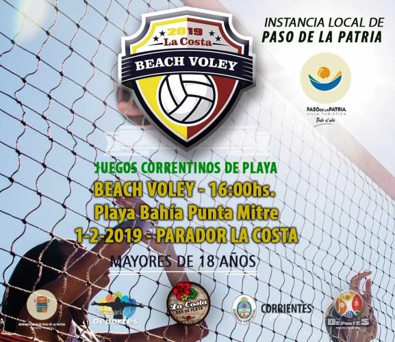 Juegos Correntinos de Playa en Paso de la Patria